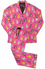 PJ Salvage Wise Cats Pajama Set
