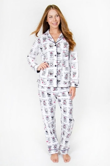 PJ Salvage Yearbook Dog Flannel Pajama Set