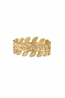 Shashi Amelia Gold Ring