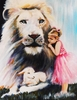 Little Princess with the Lion and Lamb. Print