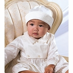 Boy's Fine Silk Christening Longall Outfit with Hat Classic