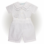 Boys Christening Outfit Sailor Style Shortall 6 months