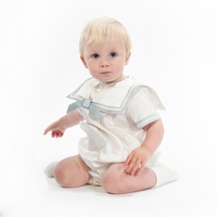 A Boys Christening Outfit Fine Silk Romper Royal Prince