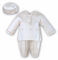 A Baby Boys Christening Outfit Fine Silk Royal Prince Nautical Baptism Suit Set