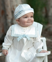 A Heirloom Silk Christening Outfit Longalls 3-6 months