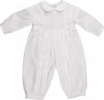 Baby Boy Christening Smocked Longall Outfit