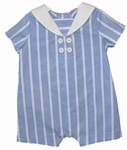 Baby Boys Striped Nautical Romper 6 months