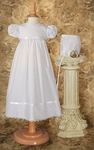 Baby Girl Budget Eyelet Trim Christening Gown