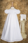 Baby Girl Simple Tricot Overlay Christening Gown Set