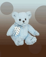 Christening Keepsake Plush Blue Cuddly Stuffed Bear Friend