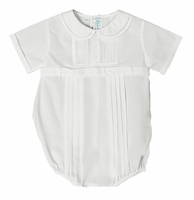 Boys Christening Outfit Belted Bubble Romper