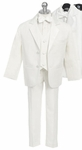 Boys Novelty White Notch Collar Tuxedo Set 6-12 months