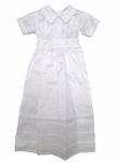 Boys Ornate White Shantung Convertible Baptism Gown Set