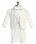 Boys White Tuxedo Shorts Formal Set 12-18 months