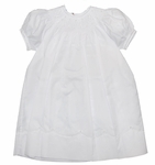 Girls Christening Dress Bishop Smocking and Pearls