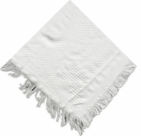 Christening Blanket Shawl Knit Fringe Cross Baptism