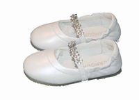 Girls Christening Shoes Leather Bling Ballet Baptism Shoe
