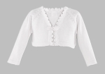 Girls Christening Sweater Bolero Knit Cardigan White 3T