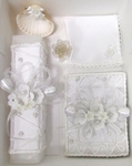 Christening Candle Gift Set Super Fancy Crystals