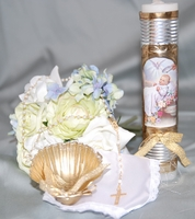 Christening Candle Vintage Set