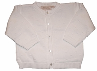 Christening Cardigan White Sweater