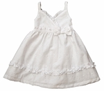 Girls Christening 100% Cotton Eyelet Sundress Set