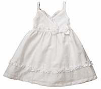 A Girls Christening 100% Cotton Eyelet Sundress Set