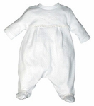 Unisex Christening Outfit Infant 100% Cotton Baby Footie Set 0-3 months
