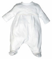 A Unisex Christening Outfit Infant 100% Cotton Baby Footie Set