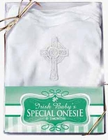 Unisex Christening Baptism Onesie Cotton Celtic Cross 0/3 months