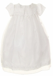 Christening Dress Day Gown Organza White Set