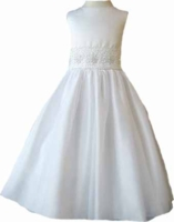 Christening Dress Fancy Ivory or White Organza Fancy