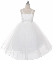 Toddler Girls Baptism Dress Beaded Corset & Tulle