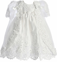 Christening Dress Fancy Lace and Beads