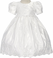 Girls Christening Dress Fancy Satin