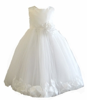 Christening Dress Fancy Silk & Petals