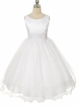 Toddler Girls Baptism Dress Princess Satin & Tulle