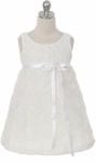 Toddler Girls Baptism Dress Modern Tissue Sheath