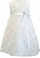 Christening Dress Fancy White Tissue Sheath