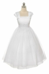 Toddler Girls Baptism Dress Fancy Tulle & Sparkle