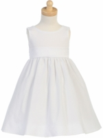 Girls Christening Dress White Cotton Seersucker Toddler
