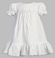 Girls Christening Dress White Cotton Sweet Ella
