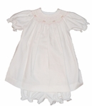 Girls Christening Dress Set Ivory Smocked Bishop 12 months