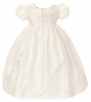 Christening Dress Silk Dupioni Classic Set