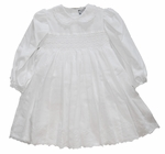 Christening Dress Smocked Long Sleeve