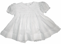 Girls Christening Dress Baby Smocked Newborn Baptism Set