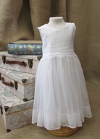 Christening Dress Girls Toddler Soft Tulle and Lace 3T