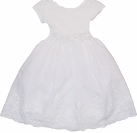 Christening Dress White Cotton Toddler Eyelet