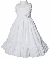 Christening Dress White Cotton Toddler Sundress