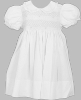 Girls Christening Dress Classic Smocked and Lace
